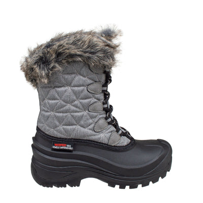 grey women's insulated winter boots
