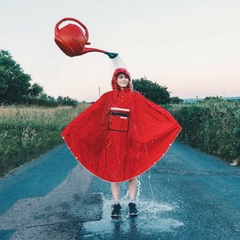 The People's Poncho in Rot
