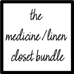 THE Medicine/Linen Closet Bundle, Sand