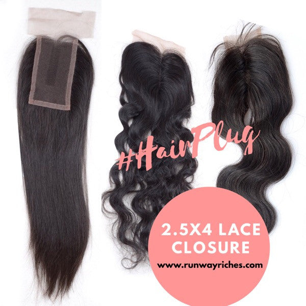 2.5x4 Top Lace Closures
