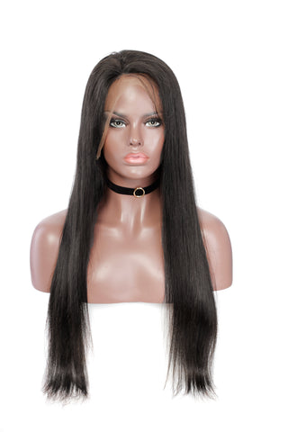 Natural Straight Lace Wig 180% Density
