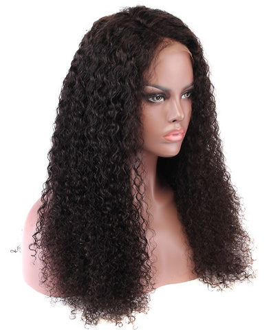 Malaysian Curly Lace Wig 180% Density