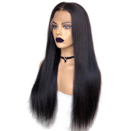 Custom Natural Straight Lace Unit 150% Density
