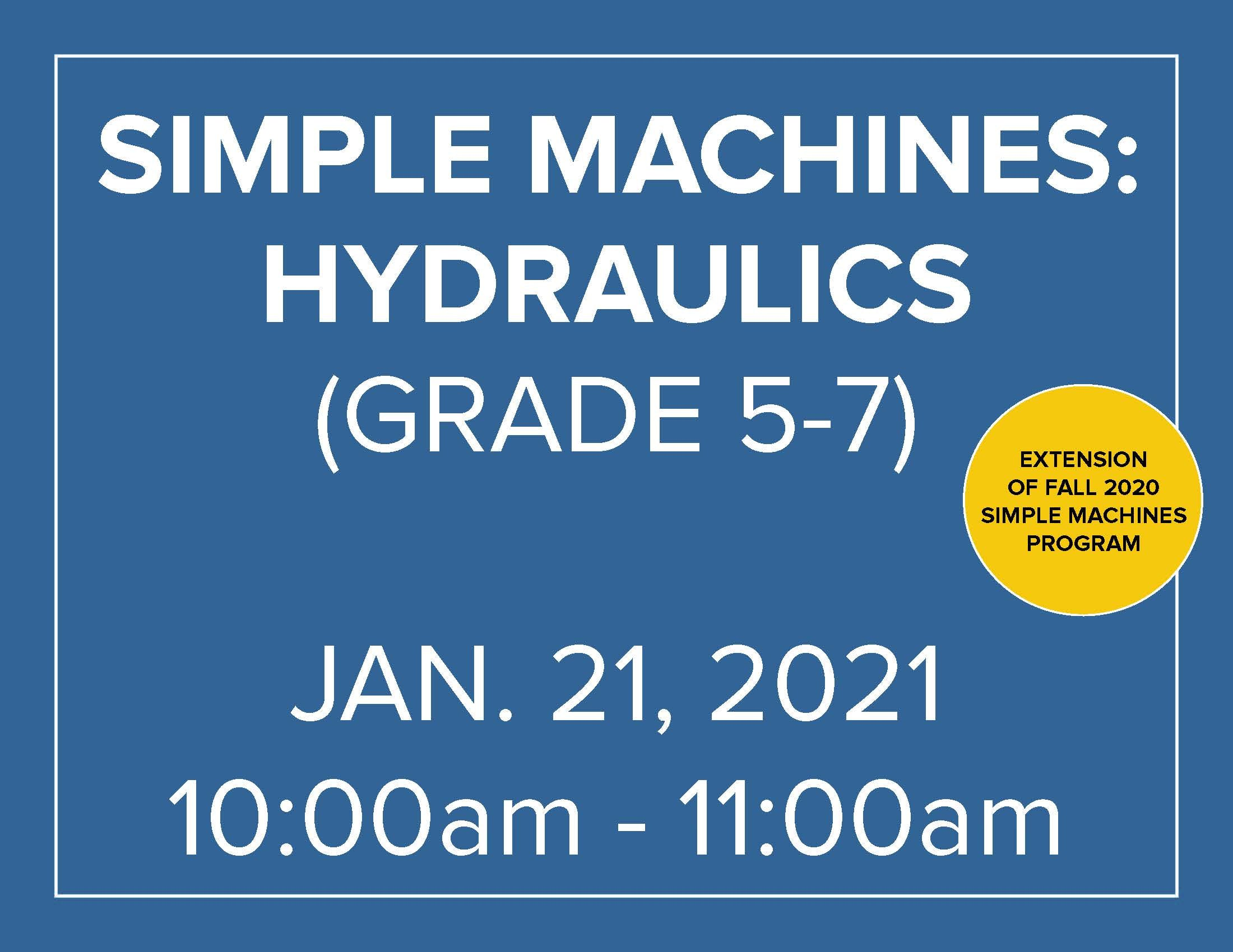 Simple Machines: Hydraulics - Homeschool Program