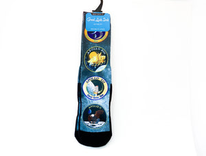 Long Good Luck Sock - Apollo Mission Patches