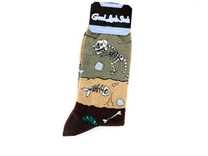 Ankle Good Luck Sock- Dinosaur Fossil Layers