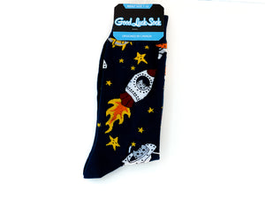 Ankle Good Luck Sock - Space cats