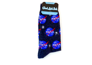 Ankle Good Luck Sock - NASA, Blue