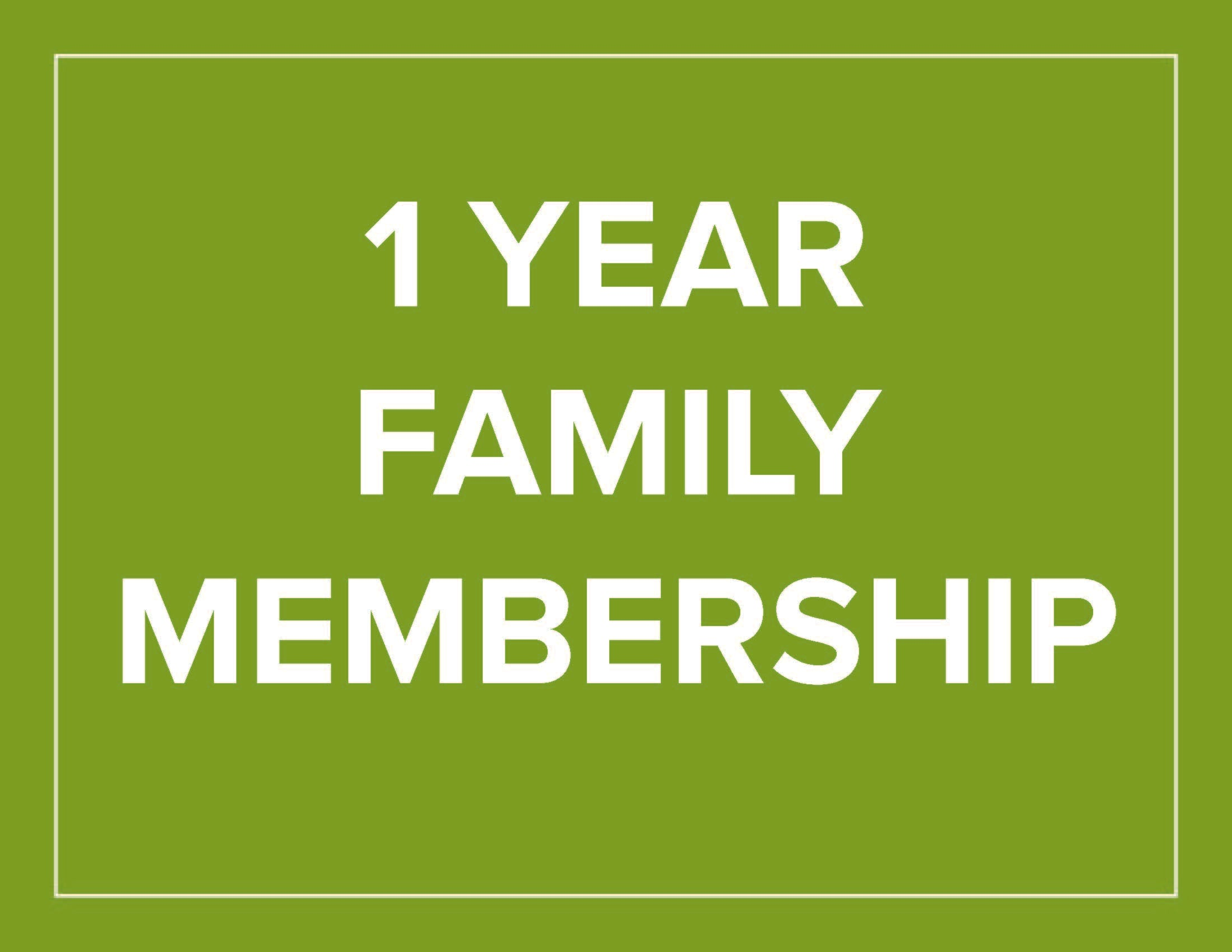 1 Year Family Membership