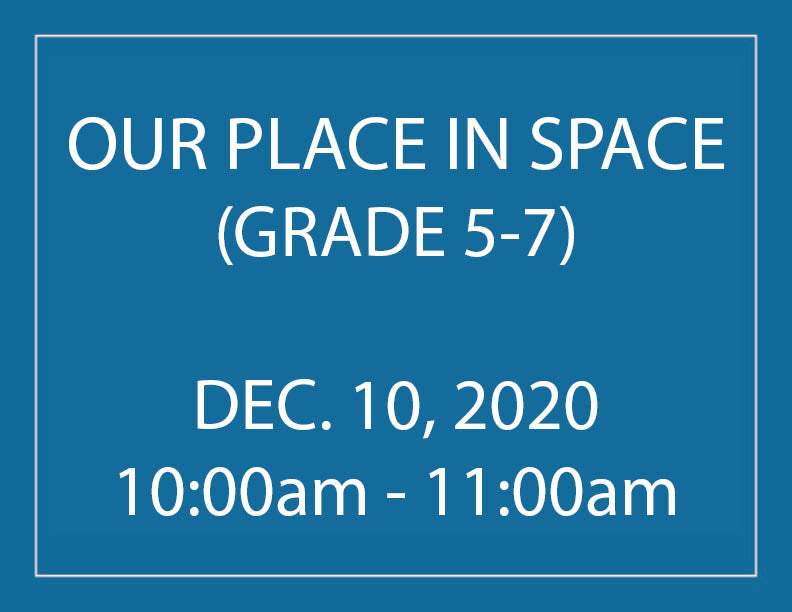 Our Place in Space - Homeschool Program
