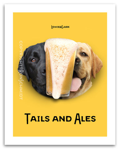 """Tails & Ales"" Poster"