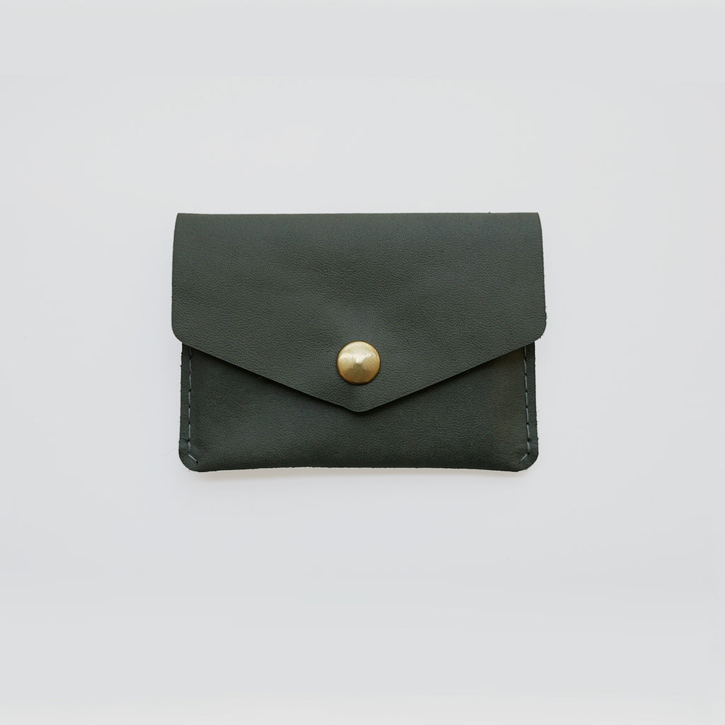 Single Snap Wallet - Olive Green