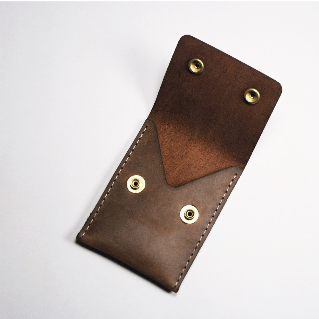 Double Snap Wallet - Boomer Brown