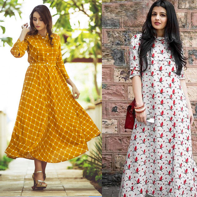 Combo Of 2 Printed Kurtis