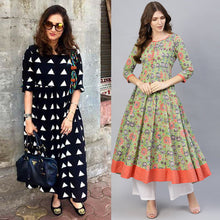 Load image into Gallery viewer, Pack Of 2 Party Wear Designer Kurtis
