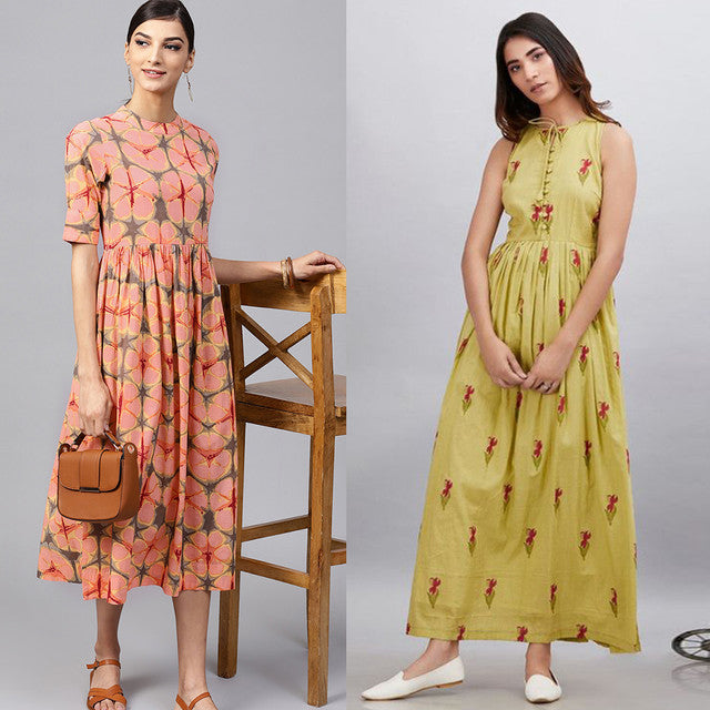 Pack Of 2 Designer Heavy Rayon Kurtis