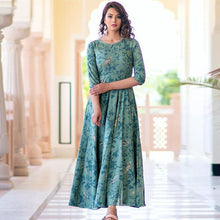 Load image into Gallery viewer, Sky Blue Color Printed Kurti