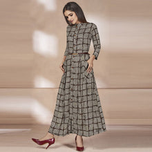 Load image into Gallery viewer, Grey Colored Designer Long Kurti