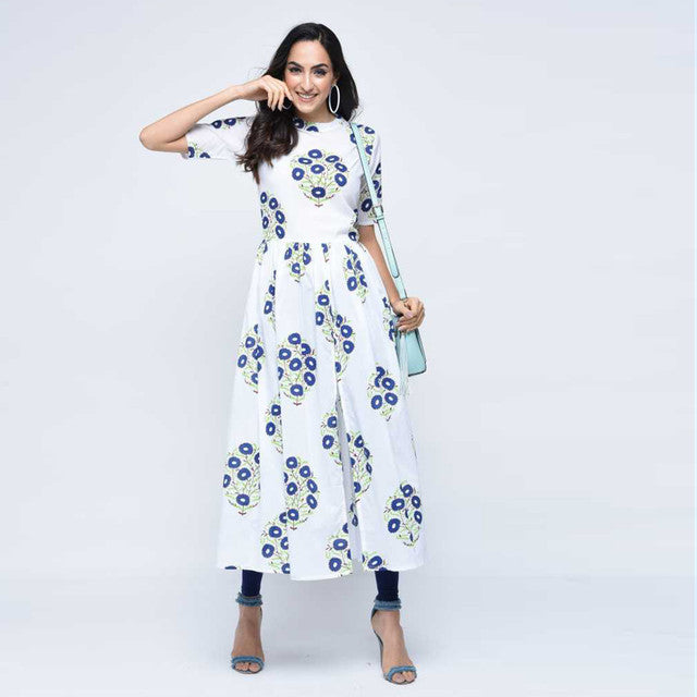 Off White Color Party Wear Kurti