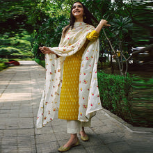 Load image into Gallery viewer, Yellow Colored Office Wear Cotton Kurti