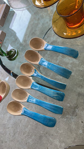 Blue Spooning Set