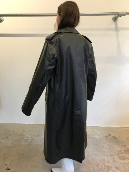 Gloss Black Trench 46