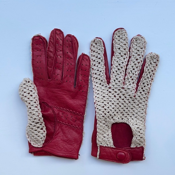 Red Woven Glove S/M