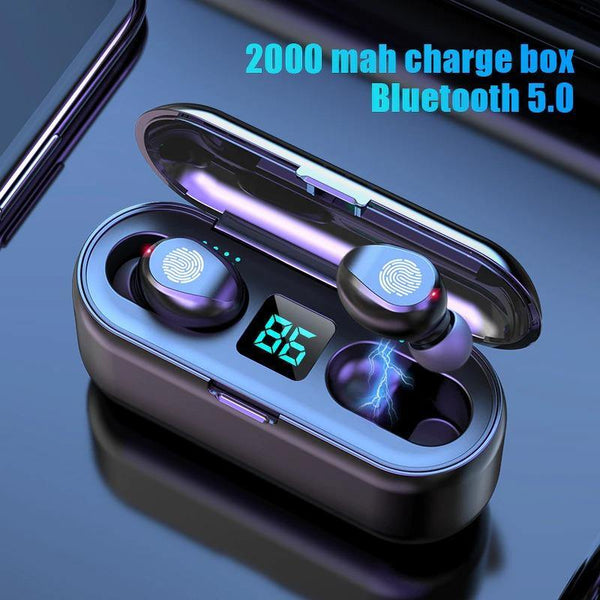Air F9 Max TWS Bluetooth Earphone LED Display Bluetooth 5.0-Compro System