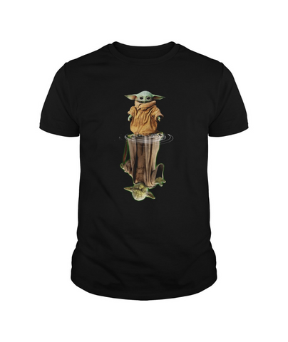 Baby Yoda and Master Yoda water Reflection Shirt
