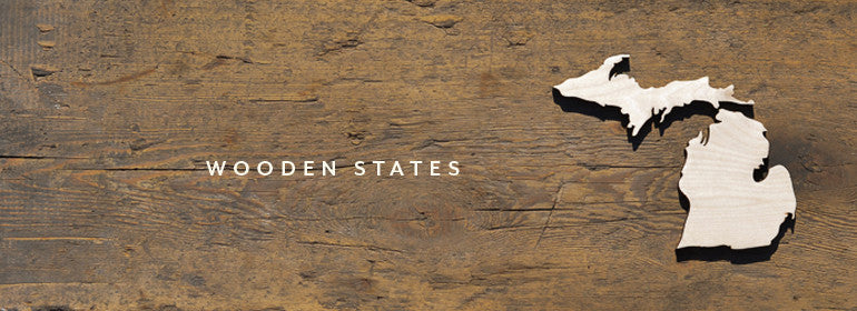 Wooden States Laser Cut Wood State Cutouts Made In Usa June