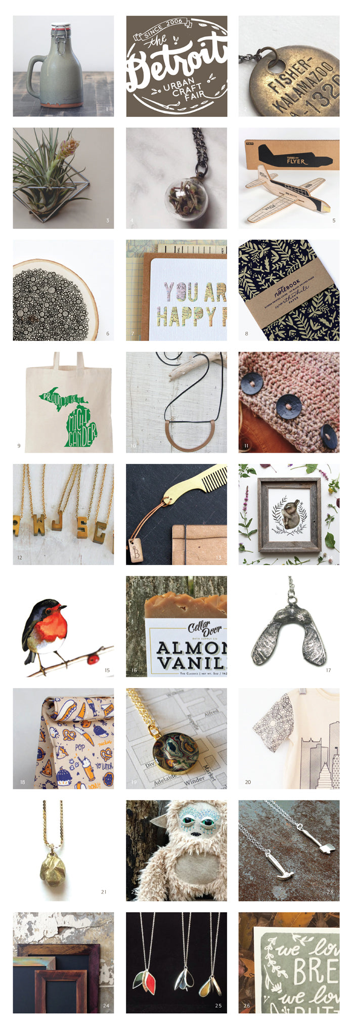 June & December's Detroit Urban Craft Fair Artist Spotlight List