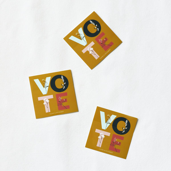 Limited Edition VOTE Sticker : 3x3 Square