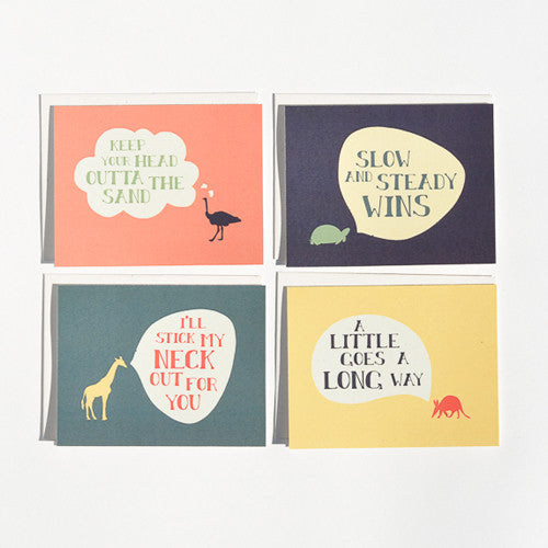 Animal Convos Cards : Boxed Set of 8
