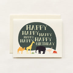 Happy Birthday Card x6 Card