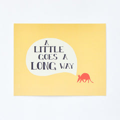 Aardvark Art Print : A Little Goes a Long Way