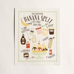 Banana Split Art Print