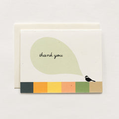 Chickadee Thank You Card