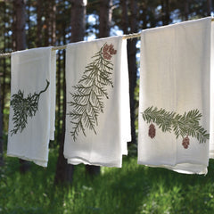 Winter Greens Towels : Set of 3