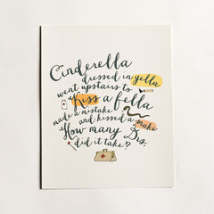 Yellow Cinderella Art Print