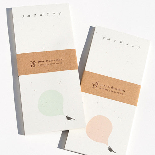 Chickadee Notepad : Daily To Do (Color Options)
