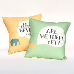Elephant & Camel Reversible Pillow : Cover Only