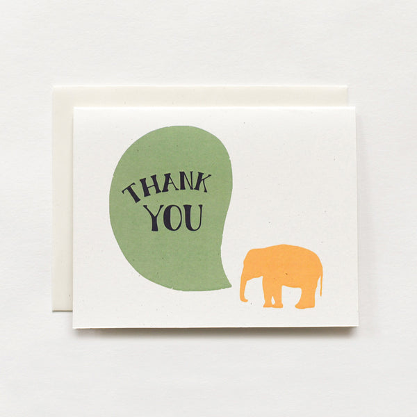 Never Forget Thank You Card : Elephant