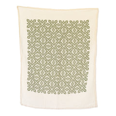 Woodblock Nettles Towel : Green