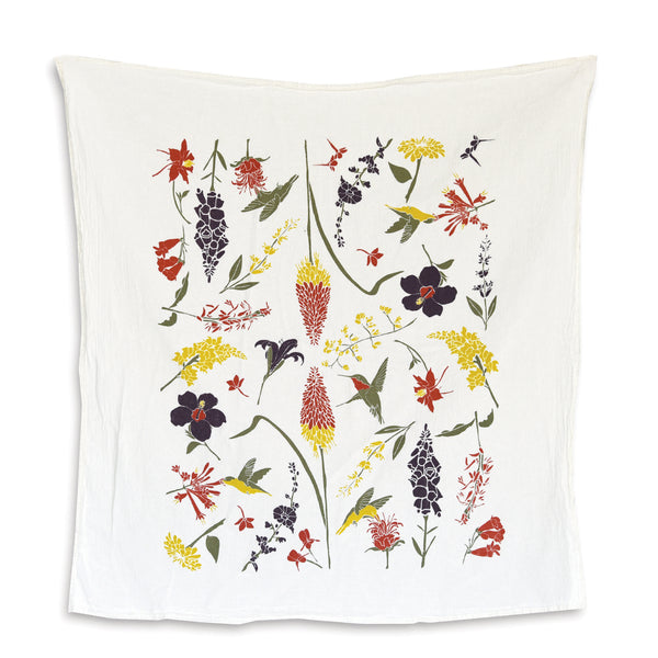Hummingbird Garden Towel