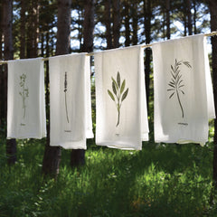 Garden Herb Towels : Set of 4