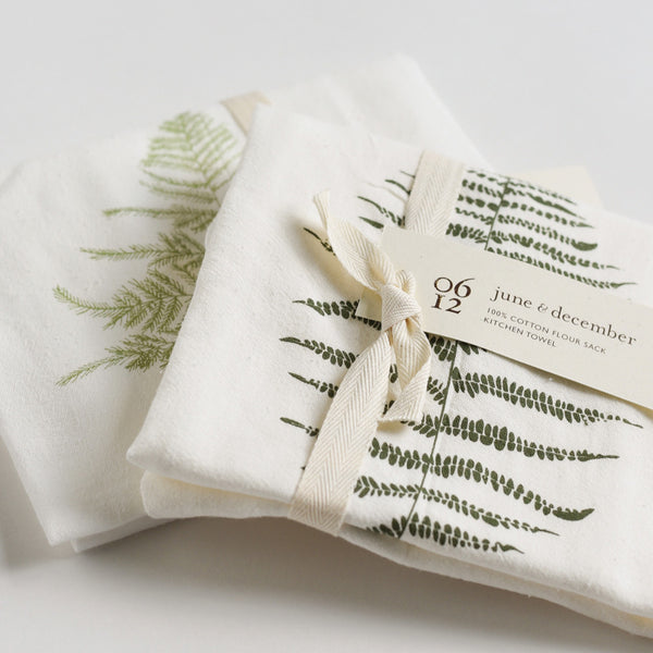 Wild Fern Towels : Set of 2