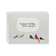 Happy Bday Birds on a Wire Card