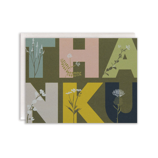 Overgrown Thank You Cards : Boxed Set of 8