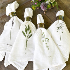 Garden Herbs Napkins : Set of 4