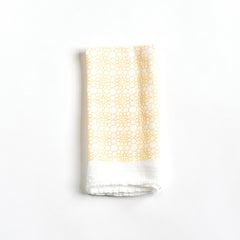 Honeycomb Flower Napkin : Yellow
